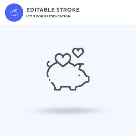 Piggy Bank icon, filled flat sign, solid pictogram isolated on white, illustration. Piggy Bank icon for presentation.