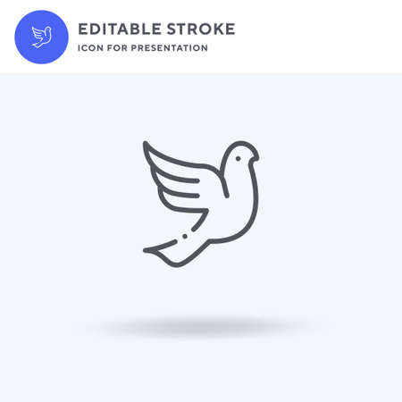 Dove icon, filled flat sign, solid pictogram isolated on white, illustration. Dove icon for presentation.