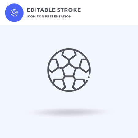 Soccer icon, filled flat sign, solid pictogram isolated on white, illustration. Soccer icon for presentation. Çizim