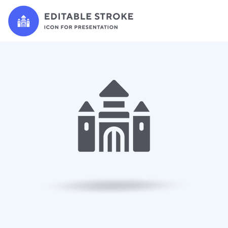 Castle icon vector, filled flat sign, solid pictogram isolated on white, logo illustration. Castle icon for presentation. Illusztráció
