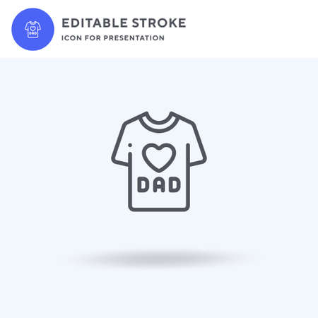 Dad icon vector, filled flat sign, solid pictogram isolated on white, logo illustration. Dad icon for presentation.