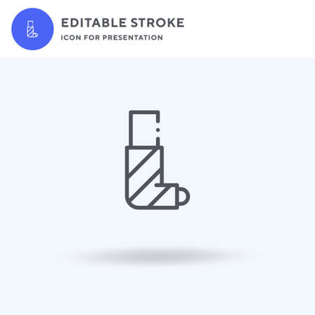 Broken Leg icon vector, filled flat sign, solid pictogram isolated on white, logo illustration. Broken Leg icon for presentation. Illustration