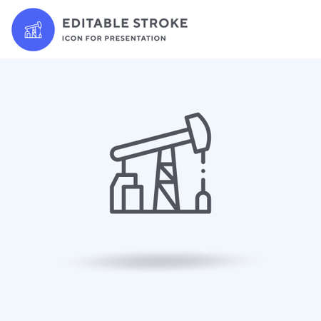 Oil Industry icon vector, filled flat sign, solid pictogram isolated on white, logo illustration. Oil Industry icon for presentation.
