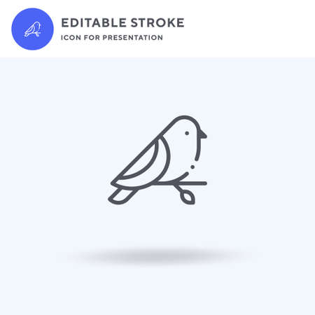 Bird icon vector, filled flat sign, solid pictogram isolated on white, logo illustration. Bird icon for presentation. Vettoriali