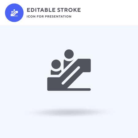 Escalator icon vector, filled flat sign, solid pictogram isolated on white, logo illustration. Escalator icon for presentation.