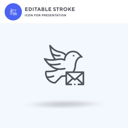 Carrier Pigeon icon vector, filled flat sign, solid pictogram isolated on white, logo illustration. Carrier Pigeon icon for presentation.