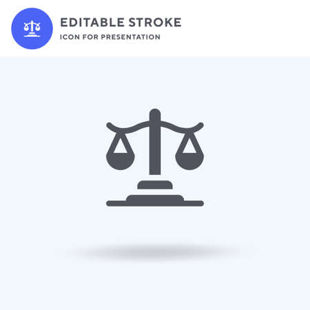 Justice icon vector, filled flat sign, solid pictogram isolated on white, logo illustration. Justice icon for presentation.