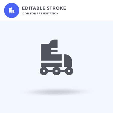 Roller Skate icon vector, filled flat sign, solid pictogram isolated on white, logo illustration. Roller Skate icon for presentation. Çizim