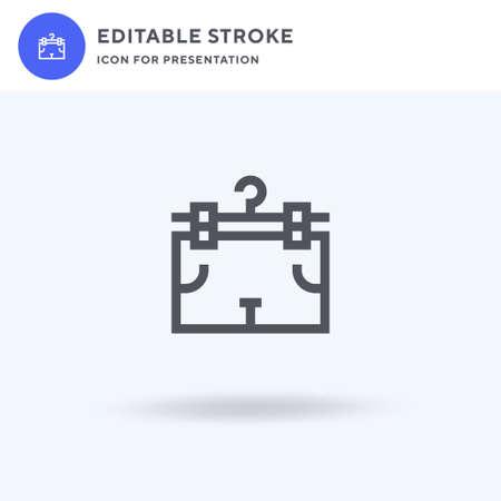Shorts icon vector, filled flat sign, solid pictogram isolated on white, logo illustration. Shorts icon for presentation. Ilustrace