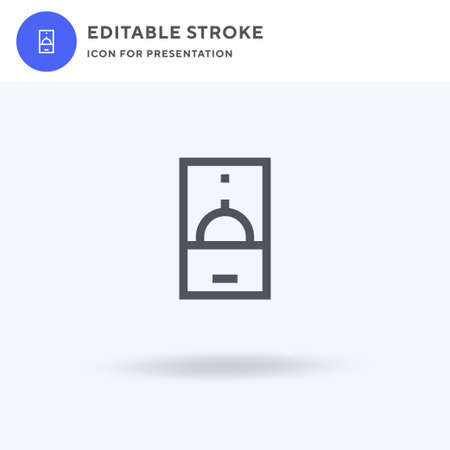 Online icon vector, filled flat sign, solid pictogram isolated on white, logo illustration. Online icon for presentation. Ilustração