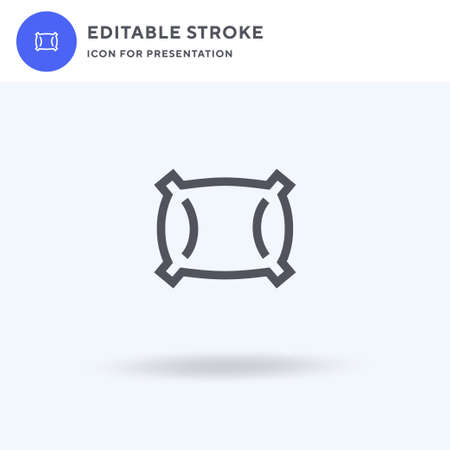 Pillow icon vector, filled flat sign, solid pictogram isolated on white, logo illustration. Pillow icon for presentation. Ilustrace