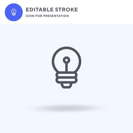 Lightbulb icon vector, filled flat sign, solid pictogram isolated on white, logo illustration. Lightbulb icon for presentation. Ilustrace