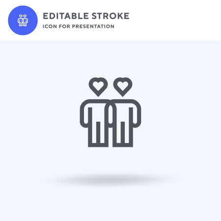Couple icon vector, filled flat sign, solid pictogram isolated on white, logo illustration. Couple icon for presentation. Vettoriali