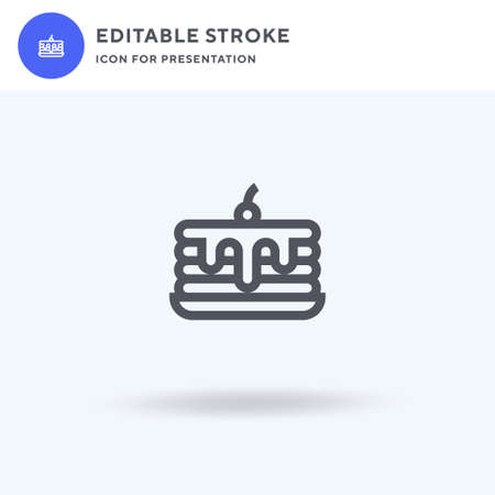 Pancake icon vector, filled flat sign, solid pictogram isolated on white, logo illustration. Pancake icon for presentation.