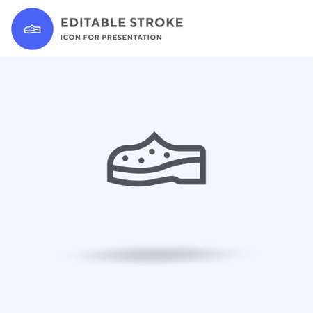 Shoe icon vector, filled flat sign, solid pictogram isolated on white, logo illustration. Shoe icon for presentation.