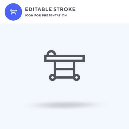 Medical Stretcher icon vector, filled flat sign, solid pictogram isolated on white, logo illustration. Medical Stretcher icon for presentation. Illusztráció