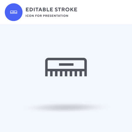 Hair Comb icon vector, filled flat sign, solid pictogram isolated on white, logo illustration. Hair Comb icon for presentation.