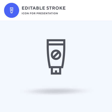 Spermicide icon vector, filled flat sign, solid pictogram isolated on white, logo illustration. Spermicide icon for presentation.