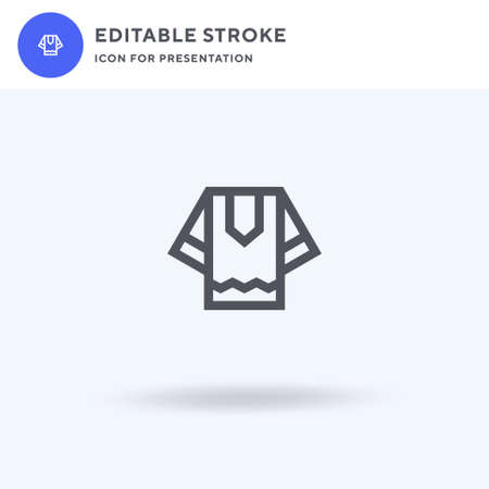 Shirt icon vector, filled flat sign, solid pictogram isolated on white, logo illustration. Shirt icon for presentation.