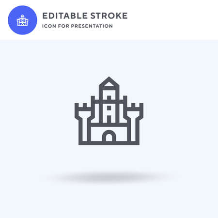 Castle icon vector, filled flat sign, solid pictogram isolated on white, logo illustration. Castle icon for presentation. Stock Illustratie