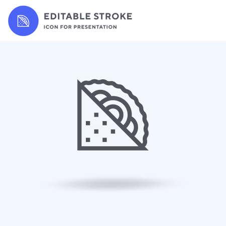 Sandwich icon vector, filled flat sign, solid pictogram isolated on white, logo illustration. Sandwich icon for presentation. Ilustração
