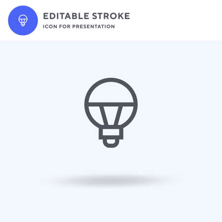 Lightbulb icon vector, filled flat sign, solid pictogram isolated on white, logo illustration. Lightbulb icon for presentation. Stock Illustratie