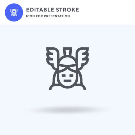Athena icon vector, filled flat sign, solid pictogram isolated on white, logo illustration. Athena icon for presentation. Vectores