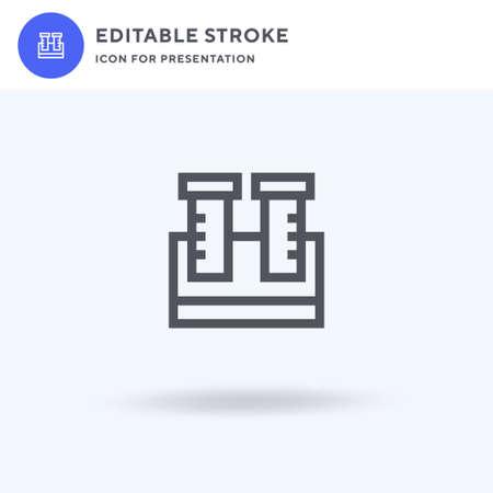 Test Tubes icon vector, filled flat sign, solid pictogram isolated on white, logo illustration. Test Tubes icon for presentation. Ilustração