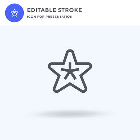 Starfish icon vector, filled flat sign, solid pictogram isolated on white, logo illustration. Starfish icon for presentation.