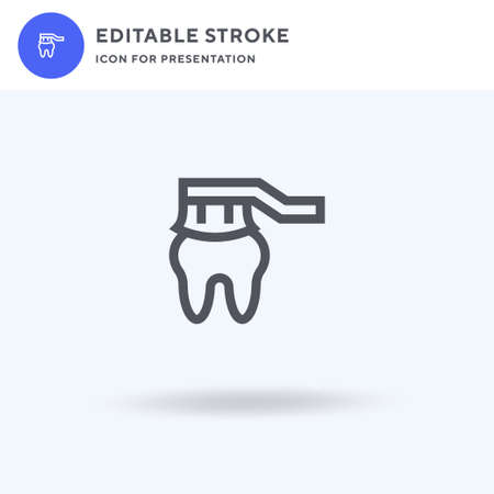 Toothbrush icon vector, filled flat sign, solid pictogram isolated on white, logo illustration. Toothbrush icon for presentation.