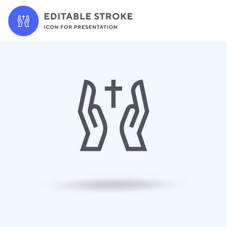 Bless icon vector, filled flat sign, solid pictogram isolated on white, logo illustration. Bless icon for presentation.