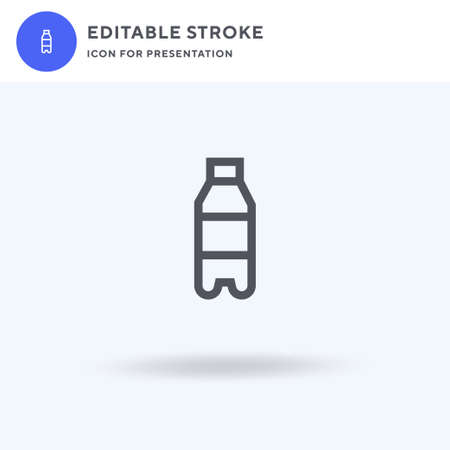 Water Bottle icon vector, filled flat sign, solid pictogram isolated on white, logo illustration. Water Bottle icon for presentation.