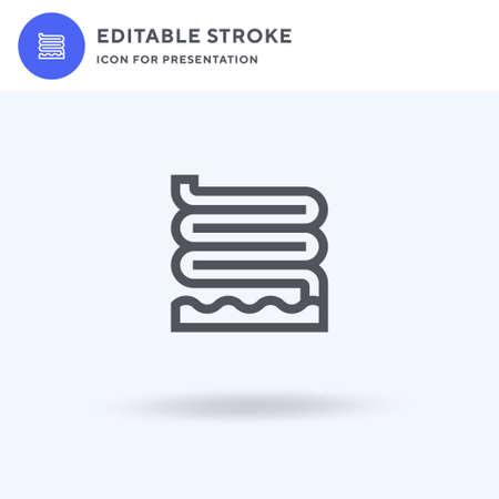 Slide icon vector, filled flat sign, solid pictogram isolated on white, logo illustration. Slide icon for presentation.