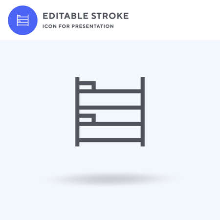 Bunk Bed icon vector, filled flat sign, solid pictogram isolated on white, logo illustration. Bunk Bed icon for presentation.