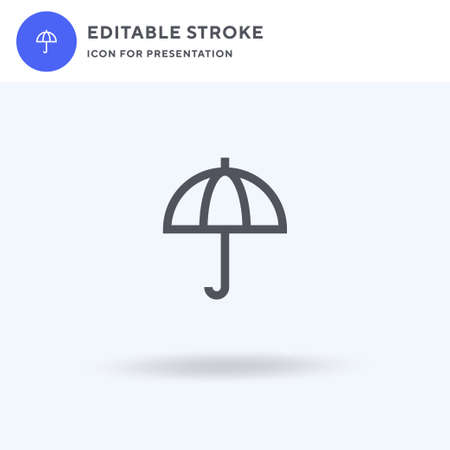 Umbrella icon vector, filled flat sign, solid pictogram isolated on white, logo illustration. Umbrella icon for presentation.