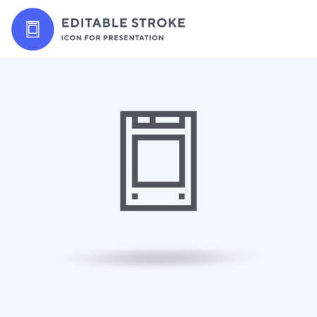 Solid State Drive icon vector, filled flat sign, solid pictogram isolated on white, logo illustration. Solid State Drive icon for presentation.