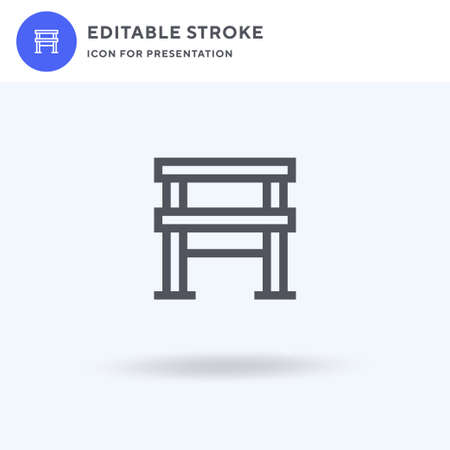 Parallel Bars icon vector, filled flat sign, solid pictogram isolated on white, logo illustration. Parallel Bars icon for presentation.