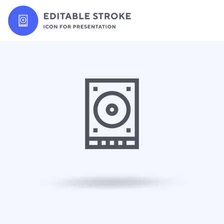 Harddrive icon vector, filled flat sign, solid pictogram isolated on white, logo illustration. Harddrive icon for presentation.