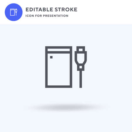 Hard Drive icon vector, filled flat sign, solid pictogram isolated on white, logo illustration. Hard Drive icon for presentation.
