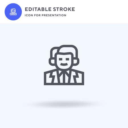 Pharmacist icon vector, filled flat sign, solid pictogram isolated on white, logo illustration. Pharmacist icon for presentation. Ilustração