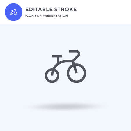 Bicycle icon vector, filled flat sign, solid pictogram isolated on white, logo illustration. Bicycle icon for presentation.