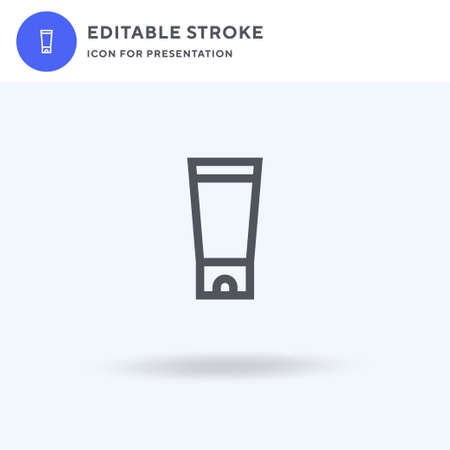 Sunscreen icon vector, filled flat sign, solid pictogram isolated on white, logo illustration. Sunscreen icon for presentation.