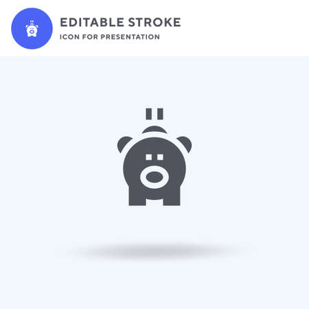 Piggy Bank icon vector, filled flat sign, solid pictogram isolated on white, logo illustration. Piggy Bank icon for presentation.  イラスト・ベクター素材