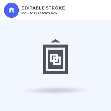 Framed icon vector, filled flat sign, solid pictogram isolated on white, logo illustration. Framed icon for presentation. Illustration