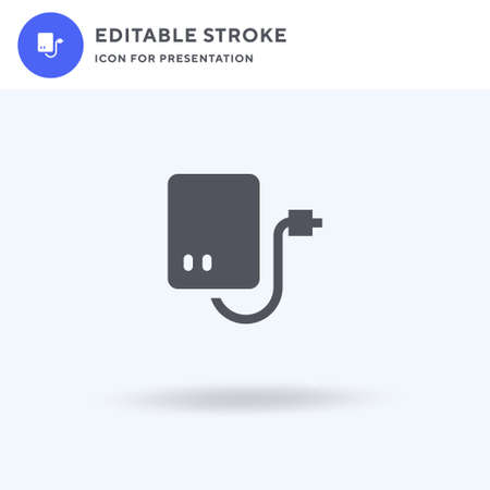 External Hard Drive icon vector, filled flat sign, solid pictogram isolated on white, logo illustration. External Hard Drive icon for presentation. Vettoriali