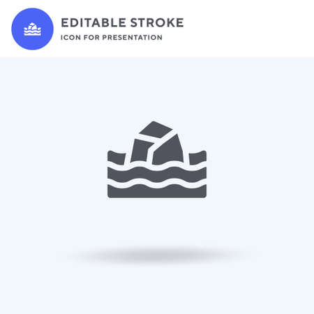 Coral Reef icon vector, filled flat sign, solid pictogram isolated on white, logo illustration. Coral Reef icon for presentation.