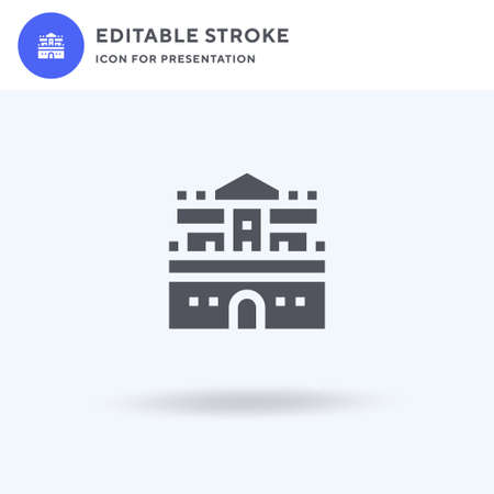Castle icon vector, filled flat sign, solid pictogram isolated on white, logo illustration. Castle icon for presentation. Vettoriali