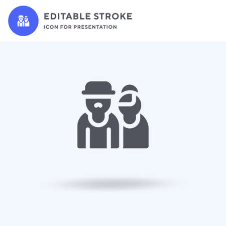 Grandparents icon vector, filled flat sign, solid pictogram isolated on white, logo illustration. Grandparents icon for presentation.