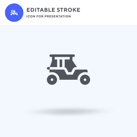 Buggies icon vector, filled flat sign, solid pictogram isolated on white, logo illustration. Buggies icon for presentation.