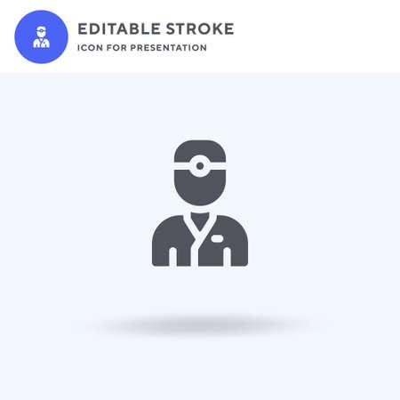 Dentist icon vector, filled flat sign, solid pictogram isolated on white, logo illustration. Dentist icon for presentation. Ilustração
